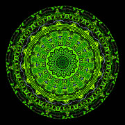 Power Digital Art - Kaleidoscope of Glowing Circuit Board by Amy Cicconi