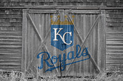 Baseball Glove Posters - Kansas City Royals Poster by Joe Hamilton