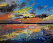 Key West Paintings - Key West Florida Sunset by Michael Creese