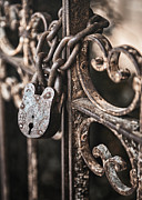 Lock Framed Prints - Keyless Framed Print by Caitlyn  Grasso