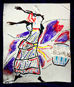 Tiles Ceramics Prints - Kiganda Dance - Uganda Print by Gloria Ssali