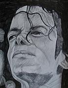 Entertainer Drawings Prints - King Of Pop Print by Jeremy Moore