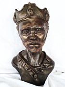 Portrait Sculpture Sculpture Posters - King of Sorrow Poster by Wayne Niemi