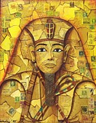 Egypt Mixed Media - King Tut by Joseph Sonday