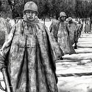 Team Mixed Media - Korean War Memorial Washington DC by Nadine and Bob Johnston
