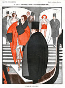 Mens Drawings Prints - La Vie Parisienne  1920 1920s France Print by The Advertising Archives