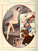 20s Drawings Posters - La Vie Parisienne  1922 1920s France Poster by The Advertising Archives