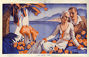 Vacations Drawings Prints - La Vie Parisienne  1931 1930s France Cc Print by The Advertising Archives