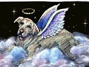 Labrador Retriever Pastels - Labrador Retriever Angel by Darlene Grubbs