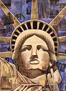 Statue Of Liberty Mixed Media - Lady Liberty by Joseph Sonday