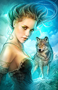 Wolves Digital Art - Lady Wolf by Shannon Maer