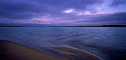 Storm Clouds; Sunset; Twilight; Water Metal Prints - Lake Peno Metal Print by Anonymous