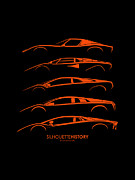 Lamborghini Prints - Lamborghini V12 Print by Gabor Vida
