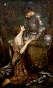 Pre-19th Prints - Lamia Print by John William Waterhouse