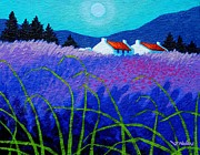 Field Framed Prints Prints - Lavender Field Print by John  Nolan