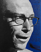 Astronomy Paintings - Lawrence Krauss by Simon Kregar