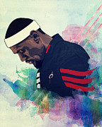 Lebron Prints - LeBron James Poster Print by Sanely Great