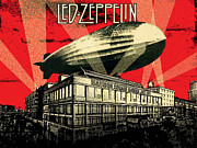 Led Zeppelin Artwork Digital Art Posters - Led Zeppelin Poster by David  Jones