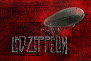 Drummer Digital Art - Led Zeppelin by Jack Zulli