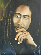 Jamaican Music Paintings - Legend by Kenneth Harris