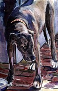 Great Dane Paintings - Legs by Molly Poole