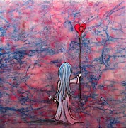 Little Girl Mixed Media - Let Your Heart Lead The Way  by Christine Cholowsky