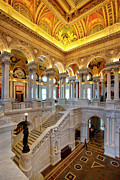 Library Of Congress Framed Prints - Library of Congress Framed Print by Brian Jannsen