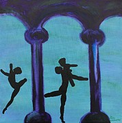 Ballet Dancers Painting Prints - Life Scars Print by Lara Whitmore