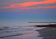Vastness Prints - Lighthouse Sunset Print by Robert Harmon