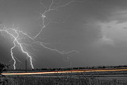 Storm Prints Photo Prints - Lightning Thunderstorm DragOn Print by James Bo Insogna