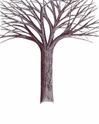 Giuseppe Epifani Posters - Like a tree without roots Poster by Giuseppe Epifani
