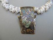 Art Museum Jewelry - Lily Pond by Brenda Berdnik