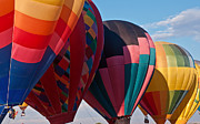 Hot Air Balloon Race Framed Prints - Line Up Framed Print by Jim Chamberlain