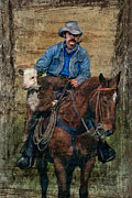 Western Western Art Photo Prints - Little Stray Print by Robert Albrecht