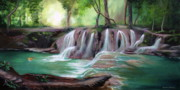 Living Waters Paintings - Living Waters by Jeanette Sthamann