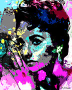 Motion Picture Star Prints - Liz Taylor Print by Allen Glass