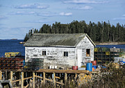Lobster Pots Prints - Lobster Shack Print by John Greim