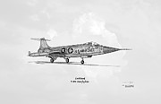 Usaf Framed Prints - Lockheed F-104 Starfighter Framed Print by Arthur Eggers