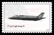 Lightning Strike Digital Art Framed Prints - Lockheed Martin F-35A Lightning II Framed Print by Arthur Eggers