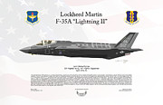 Usaf Posters - Lockheed Martin F-35A Lightning II Joint Strike Fighter Poster by Arthur Eggers