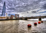London Scenes Prints - London Bridge Shard HDR Print by David French