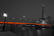 London Scenes Prints - London Bridge Shard night  Print by David French