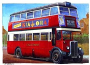 Nostalgia Paintings - London Transport STL by Mike  Jeffries