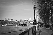 Great Britain Metal Prints - London view from South Bank Metal Print by Elena Elisseeva