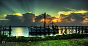 Shrimp Boat Prints - Lonely Shrimp boat Print by  Island Sunrise and Sunsets Pieter Jordaan