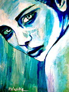 Faces Paintings - Longing by Helena Wierzbicki