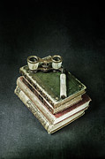Glasses Photos - Lorgnette With Books by Joana Kruse