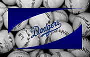 Baseballs Framed Prints - Los Angeles Dodgers Framed Print by Joe Hamilton