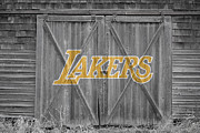 Dunk Photo Framed Prints - Los Angeles Lakers Framed Print by Joe Hamilton