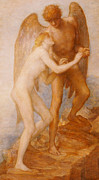 Guardian Angel Paintings - Love And Life by George Frederic Watts